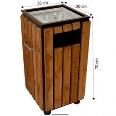 2119 Ahşap Dekorlu Çöp Kovası