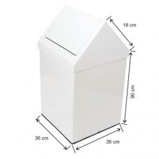 1303 Çatı Kapaklı Boyalı Çöp Kovası 100 Lt