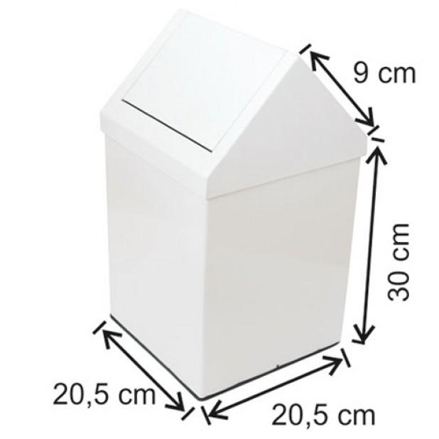 1313 Çatı Kapaklı Boyalı Çöp Kovası 11 Lt