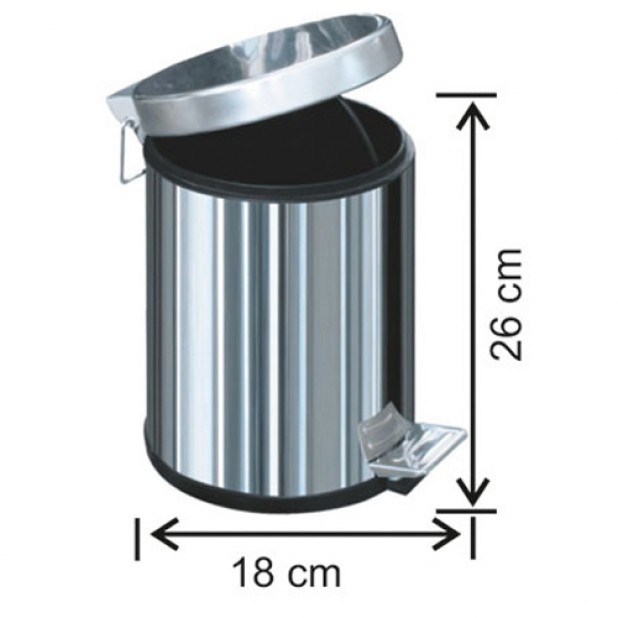 1001 Pedallı Çöp Kovası Plastik İç Kovalı 3 Litre