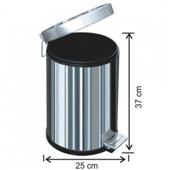 1003 Pedallı Çöp Kovası Plastik İç Kovalı 12 Litre