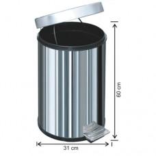 1020 Pedallı Çöp Kovası Plastik İç Kovalı 40 Litre
