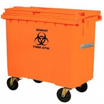 660 Litre Plastik Tıbbi Atık Konteyneri
