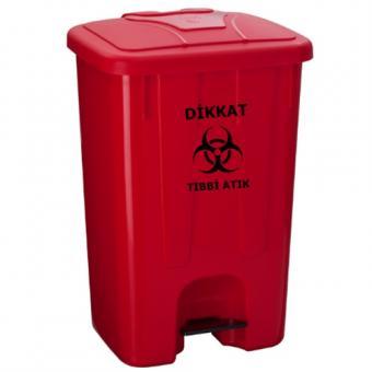 65 Litre Plastik Tıbbi Atık Kovası